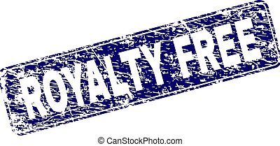 Scratched ROYALTY FREE Framed Rounded Rectangle Stamp -...