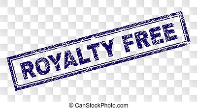 Scratched ROYALTY FREE Rectangle Stamp - ROYALTY FREE stamp...