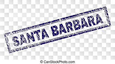 Scratched SANTA BARBARA Rectangle Stamp