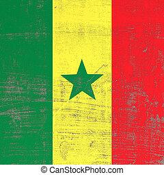 Scratched Senegal flag
