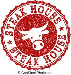 Scratched STEAK HOUSE Stamp Seal