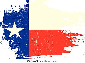 Scratched Texas Flag - A flag of Texas with a grunge texture