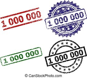 Scratched Textured 1 000 000 Stamp Seals