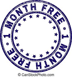 Scratched Textured 1 MONTH FREE Round Stamp Seal