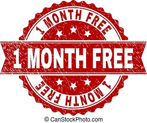 Scratched Textured 1 MONTH FREE Stamp Seal