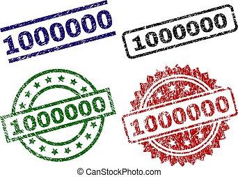 Scratched Textured 1000000 Stamp Seals