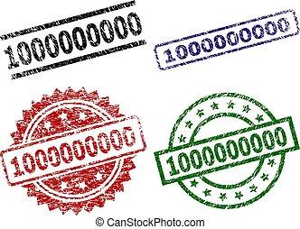 Scratched Textured 1000000000 Stamp Seals