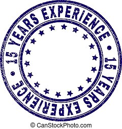 Scratched Textured 15 YEARS EXPERIENCE Round Stamp Seal