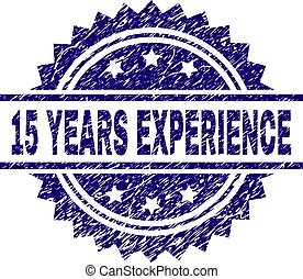 Scratched Textured 15 YEARS EXPERIENCE Stamp Seal