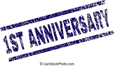Scratched Textured 1ST ANNIVERSARY Stamp Seal