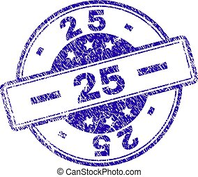 Scratched Textured 25 Stamp Seal