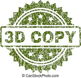 Scratched Textured 3D COPY Stamp Seal