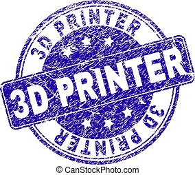 Scratched Textured 3D PRINTER Stamp Seal