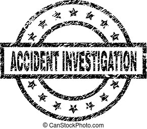 Scratched Textured ACCIDENT INVESTIGATION Stamp Seal