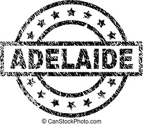 Scratched Textured ADELAIDE Stamp Seal