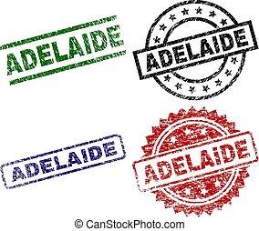 Scratched Textured ADELAIDE Stamp Seals
