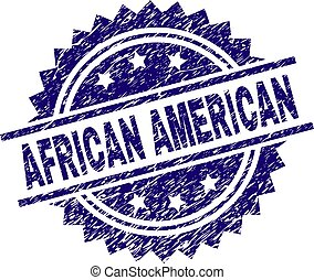 Scratched Textured AFRICAN AMERICAN Stamp Seal