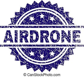 Scratched Textured AIRDRONE Stamp Seal