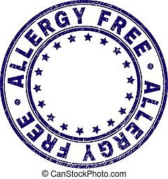 Scratched Textured ALLERGY FREE Round Stamp Seal