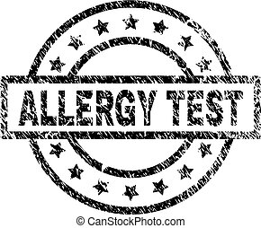 Scratched Textured ALLERGY TEST Stamp Seal
