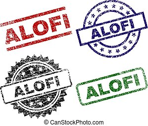 Scratched Textured ALOFI Seal Stamps