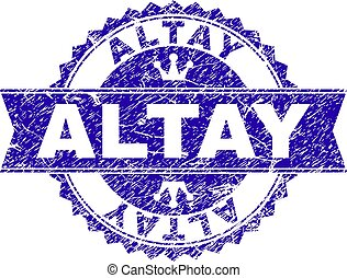 Scratched Textured ALTAY Stamp Seal with Ribbon