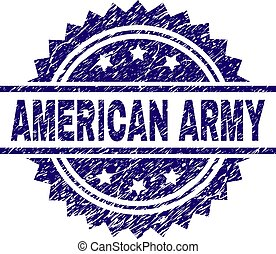 Scratched Textured AMERICAN ARMY Stamp Seal