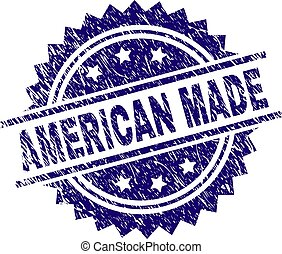 Scratched Textured AMERICAN MADE Stamp Seal