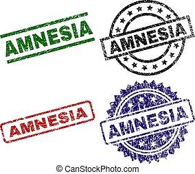 Scratched Textured AMNESIA Stamp Seals
