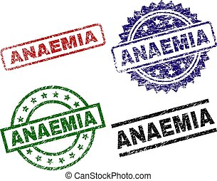 Scratched Textured ANAEMIA Seal Stamps