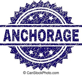 Scratched Textured ANCHORAGE Stamp Seal - ANCHORAGE stamp...