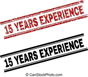 Scratched Textured and Clean 15 YEARS EXPERIENCE Stamp Prints
