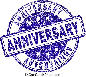Scratched Textured ANNIVERSARY Stamp Seal