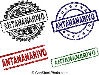Scratched Textured ANTANANARIVO Stamp Seals