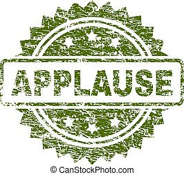 Scratched Textured APPLAUSE Stamp Seal