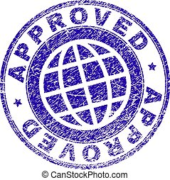 Scratched Textured APPROVED Stamp Seal