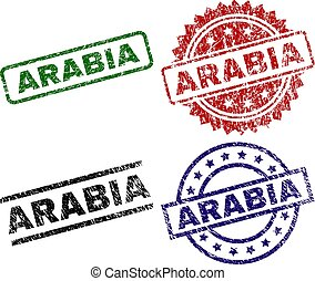 Scratched Textured ARABIA Stamp Seals