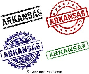 Scratched Textured ARKANSAS Seal Stamps