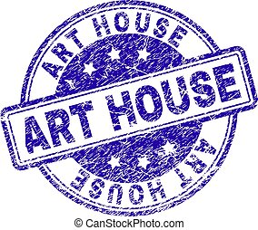 Scratched Textured ART HOUSE Stamp Seal