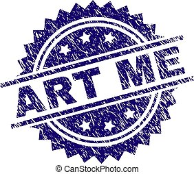 Scratched Textured ART ME Stamp Seal