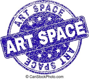 Scratched Textured ART SPACE Stamp Seal