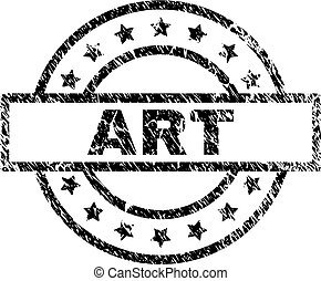 Scratched Textured ART Stamp Seal