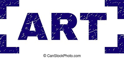 Scratched Textured ART Stamp Seal Between Corners