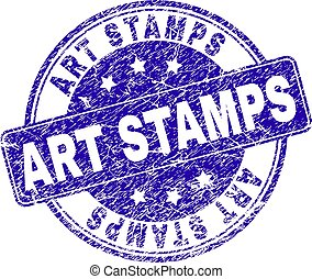 Scratched Textured ART STAMPS Stamp Seal