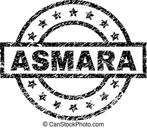 Scratched Textured ASMARA Stamp Seal