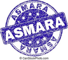 Scratched Textured ASMARA Stamp Seal