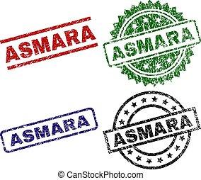 Scratched Textured ASMARA Stamp Seals