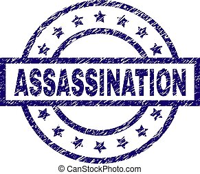 Scratched Textured ASSASSINATION Stamp Seal - ASSASSINATION...