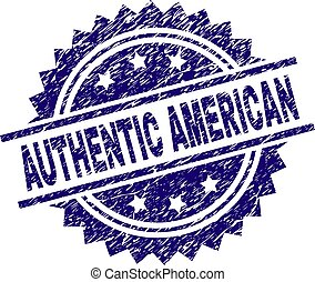 Scratched Textured AUTHENTIC AMERICAN Stamp Seal