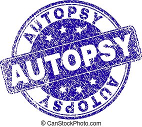 Scratched Textured AUTOPSY Stamp Seal